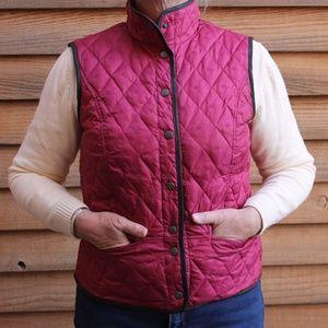Eddie Bauer Goose Down Vest, Snowflake Pattern